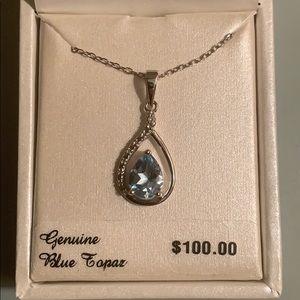 NWT radiant gem topaz necklace